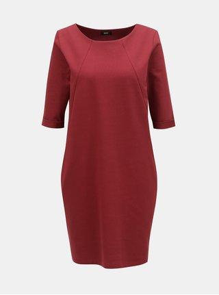 Vínové volné šaty s kapsami ZOOT