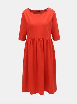 Červené volné šaty s kapsami ZOOT