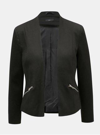 Černé sako se zipy M&Co