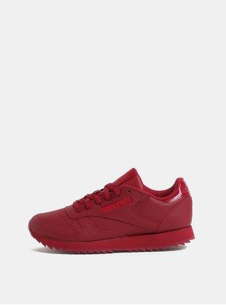 Pantofi sport rosii de dama din piele Reebok Ripple