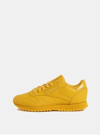 Pantofi sport galbeni de dama din piele Reebok Ripple