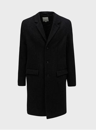 Tmavosivý vlnený melírovaný kabát Lindbergh