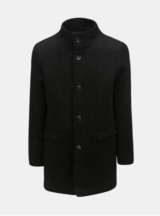 Čierny vlnený krátky kabát Lindbergh