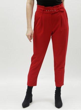 Pantaloni rosii pana la glezne cu talie inalta TALLY WEiJL