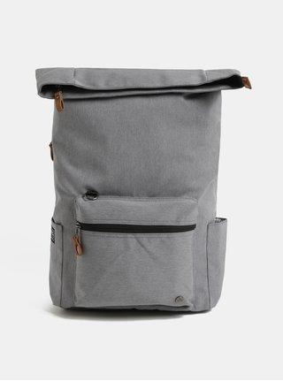Sivý nepremokavý batoh s odnímateľnou vnútornou taškou na notebook 2v1 PKG 22 l