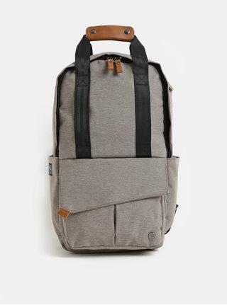 Svetlohnedý nepremokavý batoh s odnímateľnou vnútornou taškou na notebook 2v1 PKG 12 l