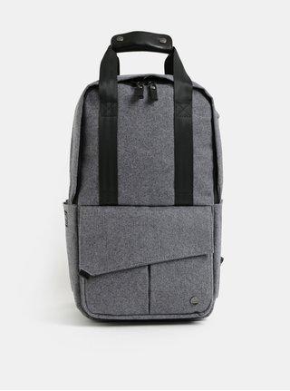 Sivý nepremokavý batoh s vnútornou taškou na notebook 2v1 PKG 12 l