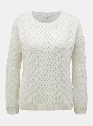 Bílý dámský svetr Tom Tailor 61e17e9a13
