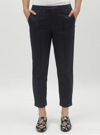 Tmavě modré dámské zkrácené kalhoty Tom Tailor Denim