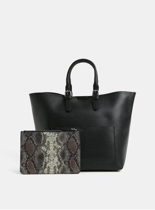 Geanta pentru shopping neagra cu portofel detasabil 2in1 Pieces Faria