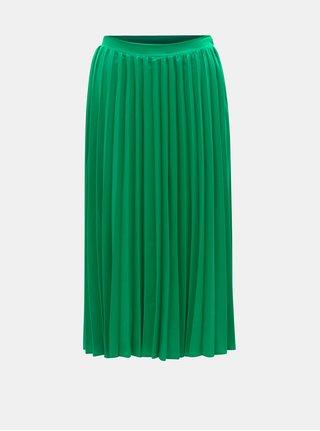 Zelená plisovaná midisukňa ZOOT