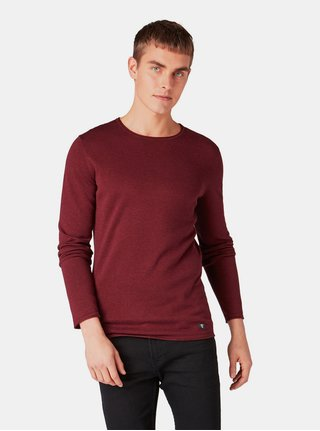 Pulover barbatesc bordo lejer Tom Tailor Denim