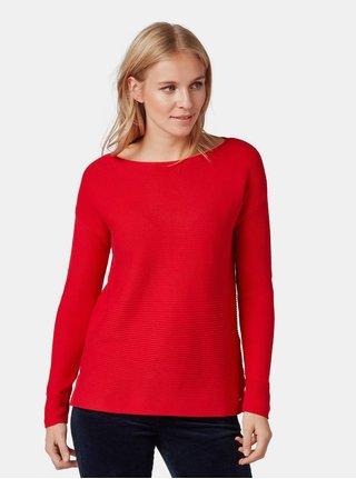 Červený dámský volný svetr Tom Tailor