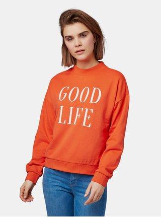 Bluza sport oranj de dama cu imprimeu Tom Tailor Denim