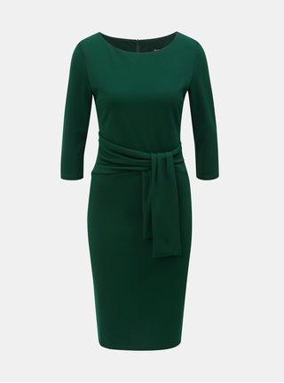 Tmavě zelené pouzdrové šaty s 3/4 rukávem ZOOT