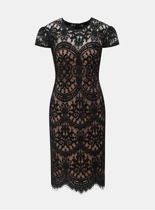 Béžovo-černé krajkové šaty ZOOT fe38986186