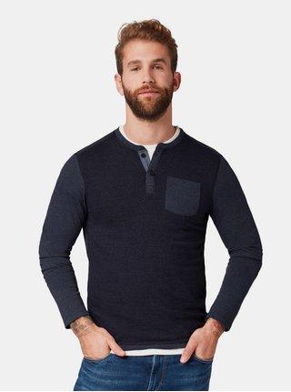 Tmavě modré pánské žíhané tričko s kapsou Tom Tailor