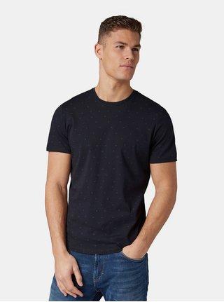Tricou barbatesc albastru inchis cu model Tom Tailor