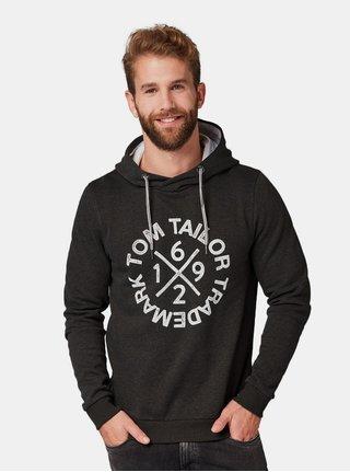 Tmavě šedá pánská mikina s potiskem Tom Tailor b1416fc7658