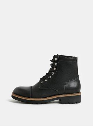 35e30285e51 Černé pánské kožené kotníkové boty Vagabond Bruce