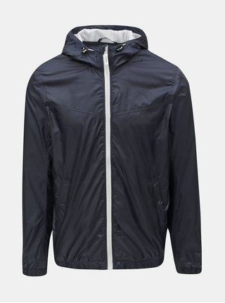 Tmavě modrá pánská šusťáková bunda Tom Tailor Denim