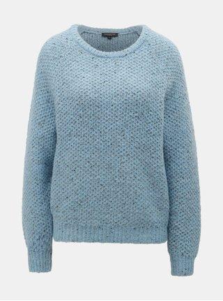 Světle modrý žíhaný svetr s příměsí vlny Selected Femme Mallorca a51bb61b82
