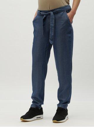 Pantaloni largi albastri din denim pentru femei insarcinate Mama.licious Lydia