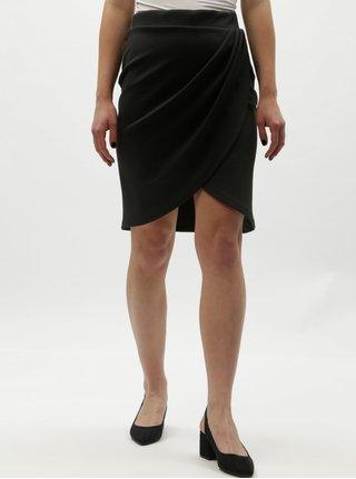 Černá sukně s řasením Selected Femme Vira