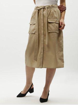 28221da028c Béžová sukně s kapsami VILA Nyala