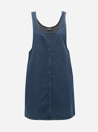 Modré rifľové šaty s vreckami Noisy May Wilda