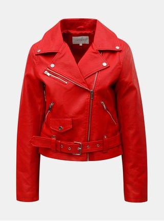 Červená koženková bunda VILA Jane b7bea5bf26b