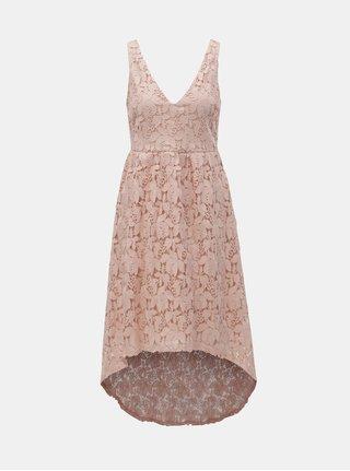 Světle růžové krajkové šaty VILA Kellie