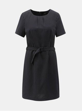 48e76db0fde Tmavě modré pruhované šaty s páskem VERO MODA Helena