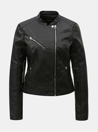 Jacheta neagra din piele sintetica VERO MODA Nora