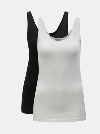 Balenie dvoch basic tielok v bielej a čiernej farbe VERO MODA Maxi