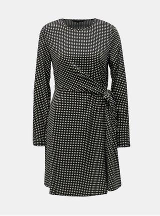 Čierno–biele kockované šaty VERO MODA Square
