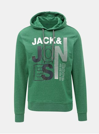 Hanorac verde cu imprimeu Jack & Jones Tilly