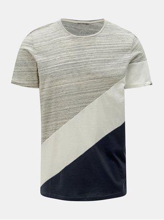 Sivé melírované tričko Jack & Jones Stage
