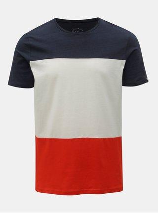 Bielo–modré tričko Jack & Jones Tage