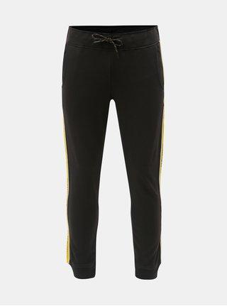 Pantaloni sport negri cu dungi Jack & Jones Vision