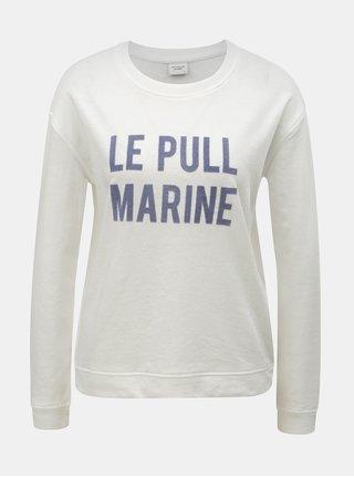 Bluza sport alba cu imprimeu Jacqueline de Yong Bowie