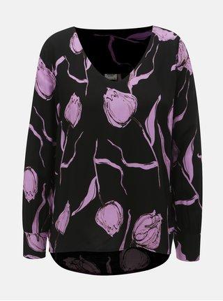 Růžovo-černá květovaná halenka Jacqueline de Yong Isha