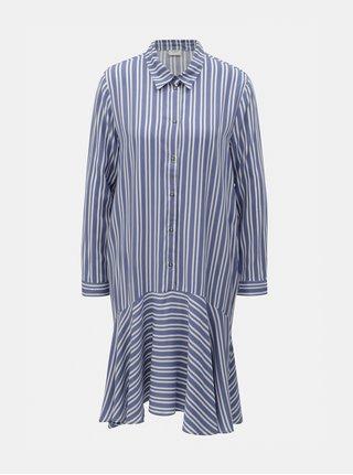 Bielo–modré pruhované košeľové šaty Jacqueline de Yong Isabel