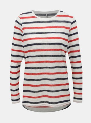 9a42fad4502 Červeno-bílé pruhované tričko ONLY Dina