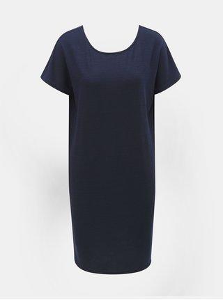 Tmavě modré šaty s krátkým rukávem Jacqueline de Yong Camilla