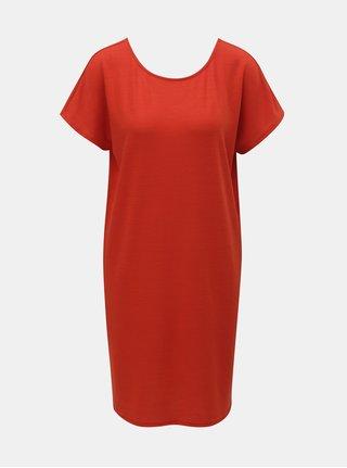 Červené šaty s krátkým rukávem Jacqueline de Yong Camilla