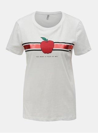 Tricou alb cu imprimeu ONLY Kita