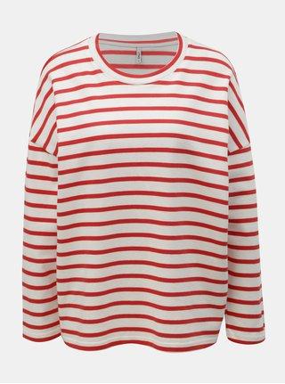 Bluza sport rosu-alb in dungi lejera ONLY Rain