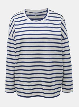 Bluza sport albastru-alb in dungi lejera ONLY Rain