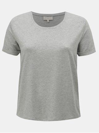 Sivé melírované basic tričko ONLY CARMAKOMA Carma